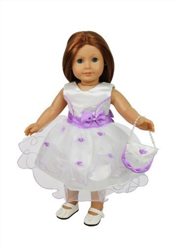 Flower Girl Doll Clothes For American Girl Dolls Includes Dress Purse And Shoes