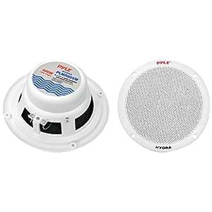 Pyle PLMR605W 6.5 Marine Speaker Dual Cone 4?© 200W White W/Mounting Hardware Consumer Electronics