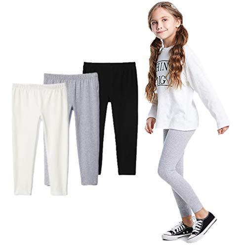 Bear Mall Toddler Girls Leggings Full Length Cotton Leggings Girls 3-Pack/Littler Girl 3T