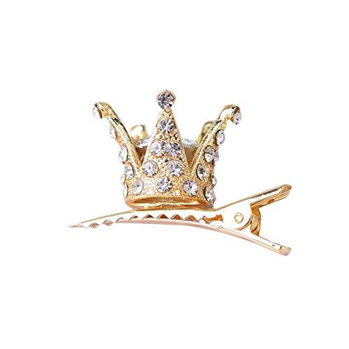 - RoseSummer Children's Girl Hair Clips Shiny Rhinestone Crystal Crown Hairpin Barrettes Princess Favor (3#)