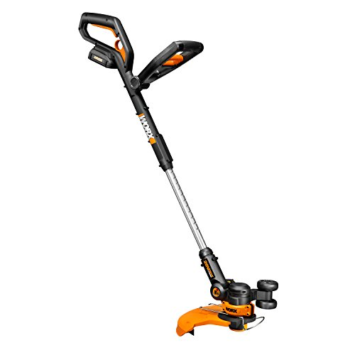 Worx 20V Battery + Charger Included 20-Volt GT 2.0 String Trimmer/Edger/Mini-Mower with Tilting Head and Single Line Feed – - Lawn Trimmers Edgers