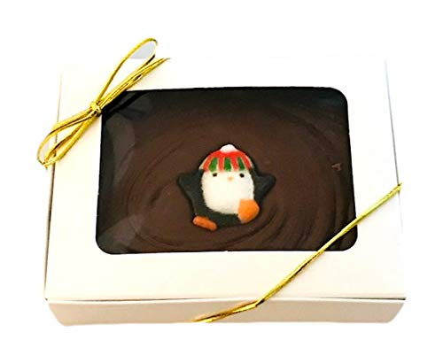 - Chocolate Fudge Holiday Gift Box, Creamy Homemade Chocolate Fudge with Penguin candy topper, Kosher Certified Ingredients, Great Work or School Party Gift, FRESH CHOCOLATE FUDGE HOLIDAY GIFT BOX