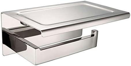 GONDD 浴室トイレットペーパーホルダーフリーパンチステンレス鋼ロール紙ホルダー壁掛けトイレットペーパー収納ラック、シルバー、サイズ:18.6x8x1.9cm