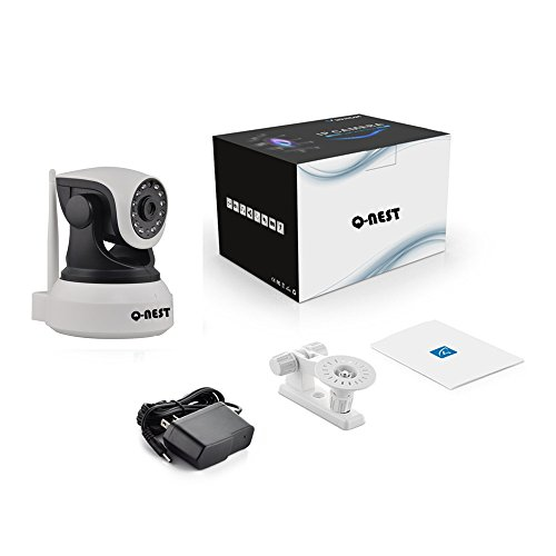 Wireless WiFi Security Camera System 1.0MP 720P HD Pan Tilt IP Network Surveillance Webcam,Day Night Vision,Baby Monitor,Two-Way Audio,Built-in Microphone,SD Card Slot(128GB),Motion Detection