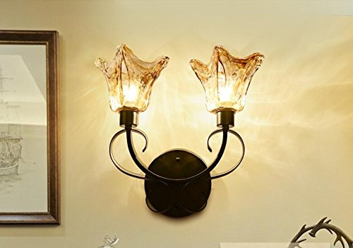 In stile europeo lampada da parete camera da letto comodino lampada da parete stile americano soggiorno corridoio balcone lampada da parete,Double