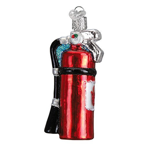 Old World Christmas Glass Blown Ornament with S-Hook and Gift Box, Tool Collection (Fire Extinguisher) ()