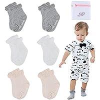 Unisex Baby Socks-Cute Infant Non-Slip Cotton Socks for Baby Toddler Kids-0-36 Months