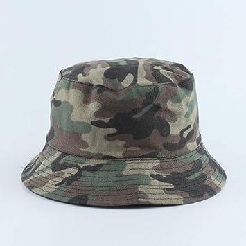 TXGLGWA Sombrero de Pescador con Estampado de Camuflaje Sombrero de Pescador para Hombre Sombrero de Sol de Viaje al Aire Libre para Mujer Gorra de Calle