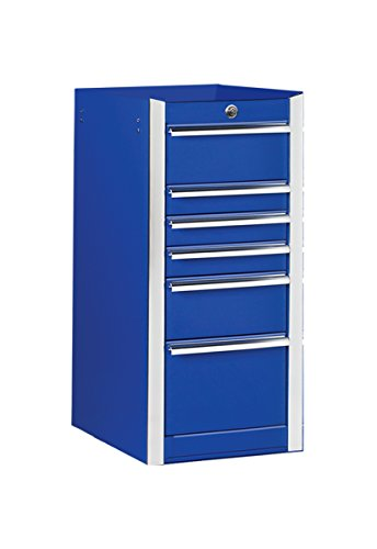 Extreme Tools EX1606SBBL Ex Standard Series 6-Drawer Side Box with Ball Bearing Slides, 16-Inch, Blue High Gloss Powder Coat Finish (Series Side Drawer Cabinet 6)