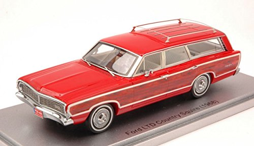 Ford Country Squire Ltd (KESS MODEL KS43015001 FORD LTD COUNTRY SQUIRE 1968 RED 1:43 MODELLINO DIE CAST)