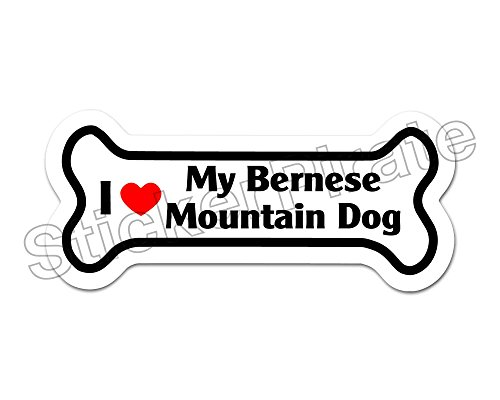 *Dog Bone Magnet* I Love My Bernese Mountain Dog Car Truck Locker Magnet (Dog Bernese Car Mountain)