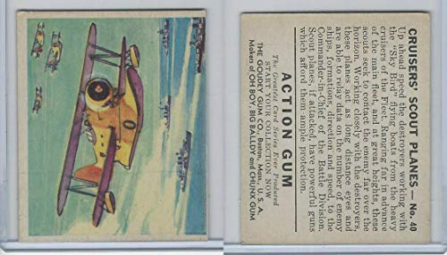 R1 Goudey, Action Gum, 1938, 40 Cruisers Scout ()