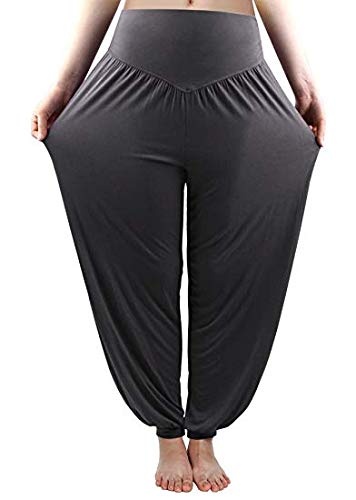 b51a95e63ac Whitewhale Women s Knits Comfortable Harem Yoga Pants Long Baggy Sports  Workout Dancing Trousers  Amazon.in  Clothing   Accessories