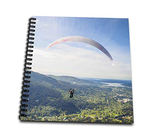 - 3dRose Danita Delimont - Paragliding - USA, Washington State. Paragliders launch from Tiger Mountain. - Mini Notepad 4 x 4 inch (db_315159_3)