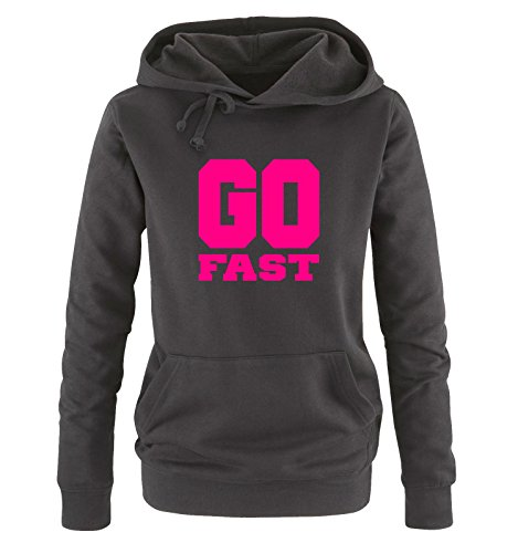 Taglia Sweater Shirts S Hoodie Go Cappuccio Fast Comedy Xl Nero Fucsia Donna nx60FCwYq