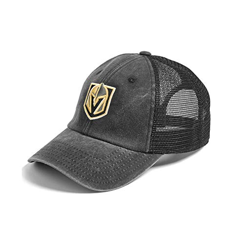 American Needle Vegas Golden Knights New Raglin Washed Slouch Adjustable Hat