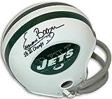 Athlon CTBL-017887 Emerson Boozer Signed New York Jets TB 2Bar Mini Helmet SB III Champs