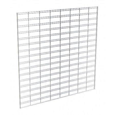 Wire Slatgrid Panel, Chrome, 4ft.x4ft, PK3