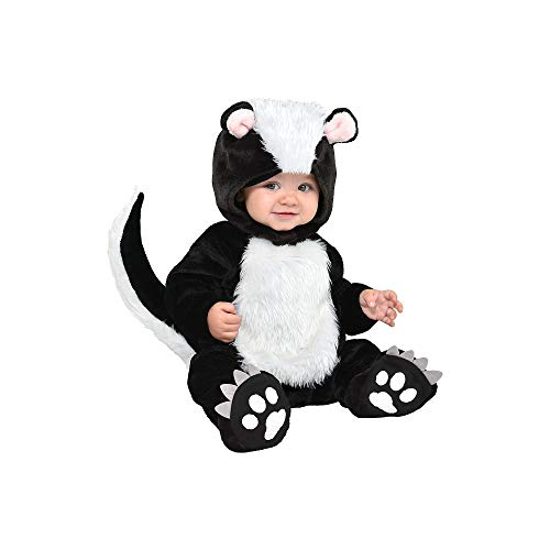 Suit Yourself Little Stinker Skunk Costume for Babies, Size 6-12 Months, Includes a Soft Jumpsuit, a Hood, and Booties -