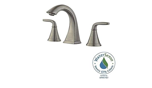 Pfister Pasadena 8in Widespread 2-Handle Bathroom Faucet in B.Nickel LF-049-PDKK