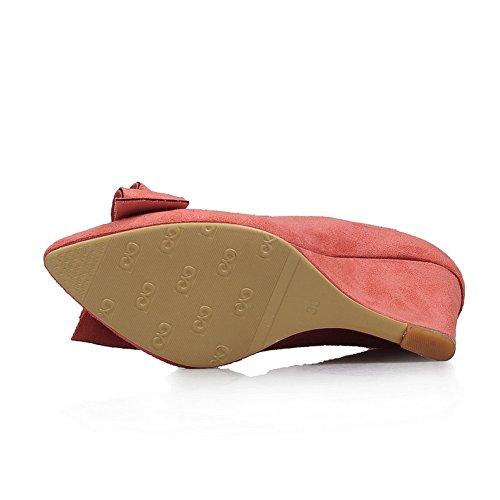 Sconosciuto Scarpe 35 Eu Donna Col Mms02218 Tacco Rosso 1to9 red rq7vwr