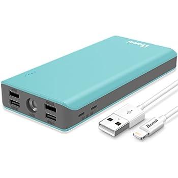 Portable Charger 30000mAh, (Ultra High Capacity)(Flashlight)(Outdoor) BONAI 5.6A 4-Port Output External Battery Pack, Polymer Fast 4A Input Power Bank for ...
