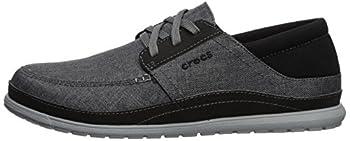 Crocs Men's Santa Cruz Playa Lace M Sneaker, Slate Greylight Grey, 10 M Us 4