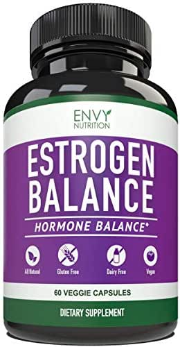 Estrogen Balance with DIM for Women - Menopause Relief, Estrogen Blocker and Hormonal Acne Treatment: Plus BioPerine 5mg, 60 Day Supply
