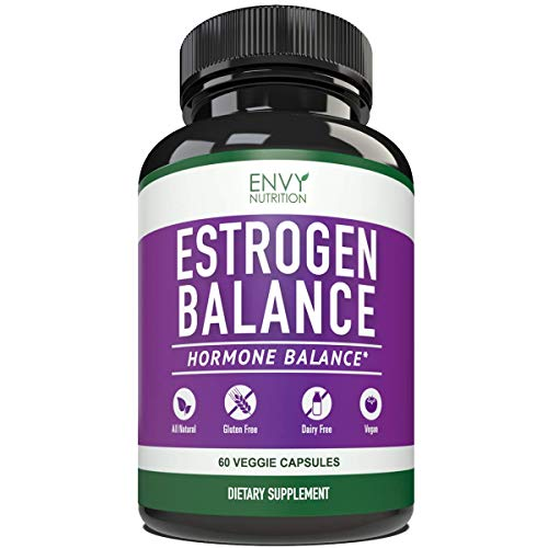 Estrogen Balance with DIM for Women - Menopause Relief, Estrogen Blocker and Hormonal Acne Treatment: Plus BioPerine 5mg, 60 Day Supply (Best Hormone Replacement For Weight Loss)