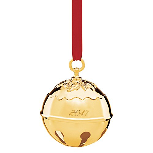 Reed & Barton Holly Bell 2017 - Goldplated (Gold Silver Bells)