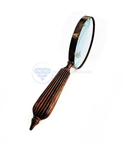 Nagina International Antique Vintage Brass Finished Premium Magnifying Glass Office Stationary Decor | Pirate's Zooming Lens from Nagina International