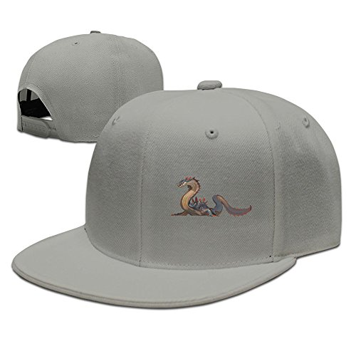 Price comparison product image Okpk Monster Hunter Nintendo Wii U Plain Adjustable Snapback Hat Baseball Cap Unisex Ash