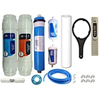 WHOLER 1 Year Complete Service Kit for All Kind of RO Water Purifier, 80 GPD Membrane, Sediment Filter, Carbon Filter, TDS Meter, Spanner, UF and Mineral, Pipe with Accessories