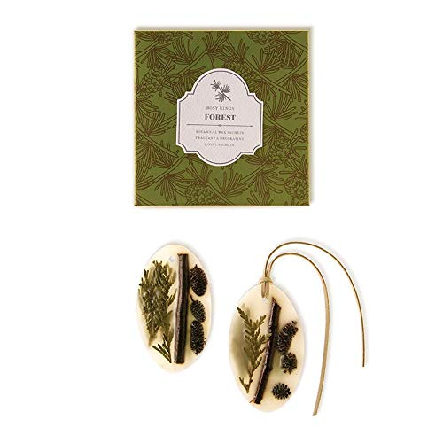 Rosy Rings Oval Botanical Wax Sachets - Forest