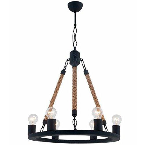 Amazon.com: Círculo Vintage Lámpara de araña iluminación 6 ...
