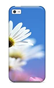 Fashion Tpu Case For Iphone 5c- Bright White Flower Defender Case Cover