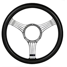 """14"""" Classic Leather Half Wrapped Steering Wheel 3401"""