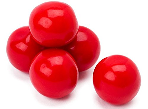 Red 1 Inch Gumballs, 2 LBS Red Candy Gum -