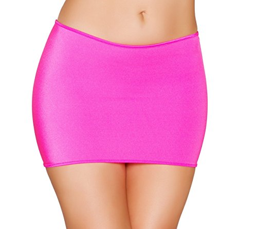 (Roma Costume SK105-HP-O-S Sexy Classic Lycra Mini Skirt44; Hot Pink - One Size)