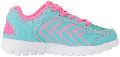 Pictures of Fila Girls' Star Runner Skate Shoe Aruba 3SR21036 Aruba Blue/Knockout Pink/Safety Yellow 3