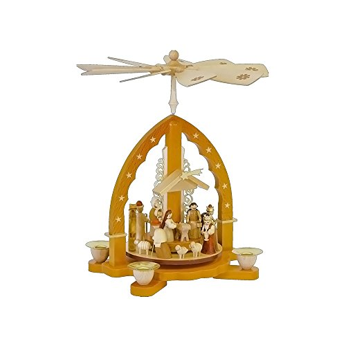 Alexander Taron 16033 Richard Glaesser Pyramid-Nativity Scene-10.5 H W x 9.25 , Brown