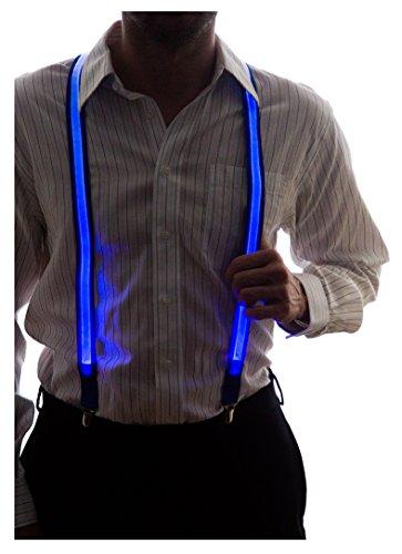Neon Nightlife Men's Light Up LED Suspenders, One Size, Blue -