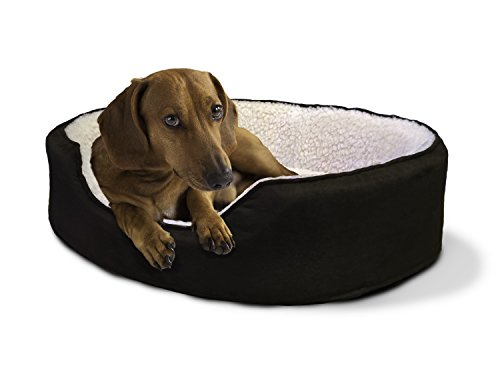 Furhaven Pet NAP Pet Bed Orthopedic Oval Egg-Crate Lounger D