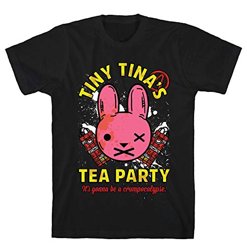 LookHUMAN Tiny Tina's Tea Party Medium Black Men's Cotton Tee ()