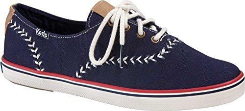 Keds Women's Champion Pennant Fashion Sneaker, Peacoat Navy, 10 M US