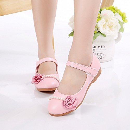 Vokamara Kleines Mädchen Ballerinas Flache Mary Jane Schuhe Pink