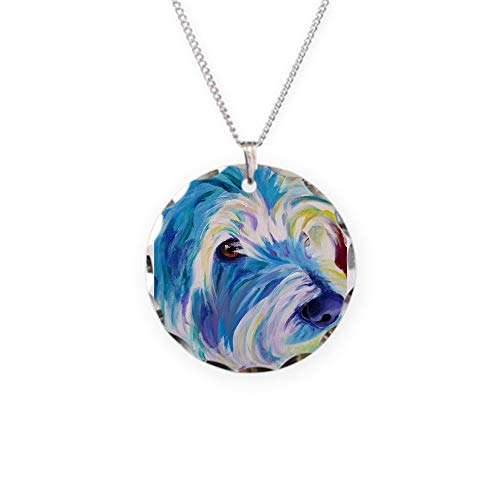 - CafePress Westie Charm Necklace with Round Pendant