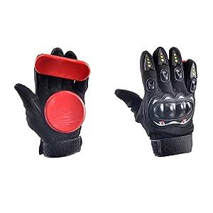 Andux Land skateboard slider Slide Glove red HBST-05