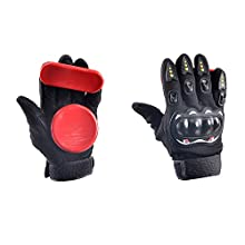 Andux Land skateboard slider Slide Glove red HBST-05