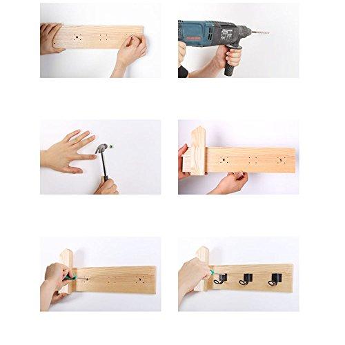 Japanese style hanging hanger / bedroom living room solid wood coat rack / wall hanging / hanging hook / wood decoration hook / ( Size : 56.510cm ) by Hook up (Image #2)